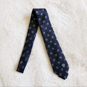 NWT Versace Men's Woven Dot Silk Logo Tie